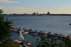 Blick über Hafen nach Stralsund